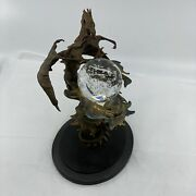 Franklin Mint Bronze Dragon Of Power Crystal Ball Statue By Julie Bell