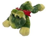 """Frog Red Hearts Bow Stuffed Plush Animal 14"""" Toad Toy Valentines Bull Love Kiss"""