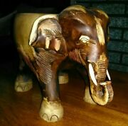 Elephant Plant Stand Small Table Home Decor Piece Nice Condition