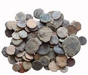 1 Lbs Of Unsearched Nice Mix Lot Of Ae Ancient And Roman Coins And Always Bonus..