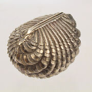 Rare Antique Hilliard And Thomason Sterling Silver Seashell Form Nutmeg Grater Vr
