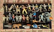 Lot Of 30 Vtg Barclay Manoil Lead Figures England Usa Cowboy Soldier Indian Gas