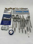 Vintage Airline Collectibles Lot - Wings, Silverware, Brochure, Pass, Other