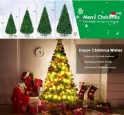Christmas Tree With Lights 4/5/6/7ft Deluxe With Usb Led Remote And Stand Xmas
