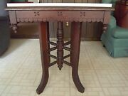 Antique Victorian Carved Wood Parlor Table