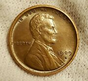 1909 S Vdb Lincoln Cent Wheat Penny Au+ Dissapointing Vdb... Still A Nice Coin.