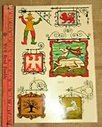 Vintage Meyercord Decals Lot Of 4 Bar Pub Tavern Signs New Old Stock 5001 B