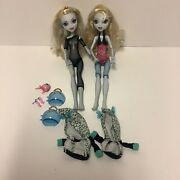 Monster High Lagoona Blue Lot First Wave Partial Outfit, School's Out Tlc Doll