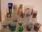 Lot Of 15 Collectible Shot Glasses Assorted Us Locations Lot 5