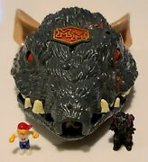 Mighty Max Traps Rattus Vintage Bluebird 1994 Shell + Ears + 2 Figures