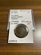 1891 Canada Large Cent Large Letters Small Date Extra Fine Xf Rare