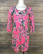 Lilly Pulitzer Beacon Dress Xs Toucan Print Dragonfruit Neon Pink New
