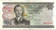 Luxembourg - Big Duke Jean - Bank Note Of 50 Francs 25 August 1972 Pick 55a