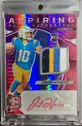 2020 Justin Herbert Panini Spectra Neon Pink 4 Color Rookie Patch Prizm Auto /10