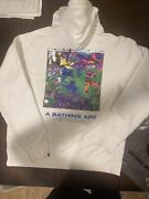 Bape A Bathing Ape Network Hoodie Pullover Sz Large 100 Authentic