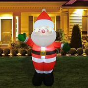 Christmas Inflatable Outdoor Smiley Santa Claus Blow Up Yard Decoration