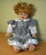 Vintage 1990s Porcelain Doll Blond Girl Collectible 9530