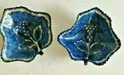 Pair Of Antique English Bow Leaf Shaped Pickle Dishes 18th C.
