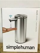 Simple Human Rechargeable Sensor Pump 9oz Stainless Steel Brand New