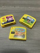 Leap Frog My First Leap Pad Game Cartridges-cars, Disney And Dora Lot Of 3