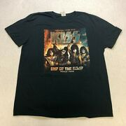 Kiss End Of The Road World Tour T-shirt Size L Black Double Sided Band Mens