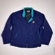Vcc Vantage Club Collection Jacket Mens Large L Made In Usa Tiger Navy Blue