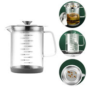 1pc Convenient Delicate Oil Storage Holder Oil Strainer Pot Oil Can For Home