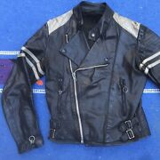 Vintage 1980andrsquos Genuine Leather Motorcycle Jacket
