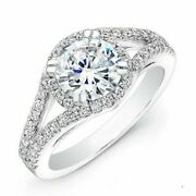 Real 1.34 Ct Diamond Women Engagement Ring Solid 950 Platinum Rings Size 6 7 8 9