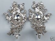 Antique Baroque Or Rococo Revival Silverplated One Light Sconces - Silver - Sl