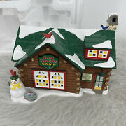 Department 56 Snow Village Girl Scouts Camp 4050982 Cabin Snowman Dept With Box