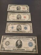 Collection Of Old Notes-lot Of 4 - 1914 10 - 1934 5 - 1953 5 And 2 Notes