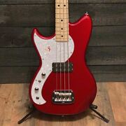 Gandl Tribute Fallout Left Handed Red Electric Bass Guitar