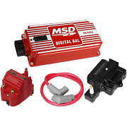 Msd Super Hei Kit W/ Digital 6al Blaster Ss Coil Hei Adapter And 8.5mm Coil Wire