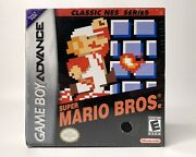 Super Mario Bros Classic Nes Nintendo Gameboy Advance Gba Game 2004 New Sealed