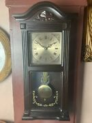 Beautiful 26andrdquotall - Westminster Chime Pendulum Quarts Wall Clock Brown Working