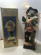 Vintage Gemmy Harvey The Animated Singing Scarecrow Motion Activated With Box