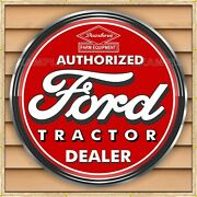 Ford Tractor Dearborn Dealer Style Sign Remake Banner Mural Med L Xl Xxl Sizes