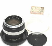 Zeiss For Contarex Planar 14 / 55mm Lens Black West Germany Clean Glass