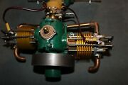 Old Antique Elmer Wall Wizard Twin Cylinder 4 Stroke Engine. Look