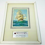 Vintage Funeral Home Advertising Ship Picture Thermometer Rockdale Wisconsin