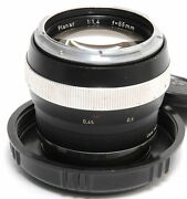 Zeiss For Contarex 1.4 / 55mm Planar Black Clean Made In Germany