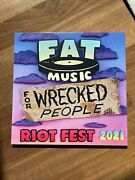 Fat Music For Wrecked People Riot Fest 2021 Yellow Pink Vinyl Nofx Propagandhi