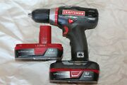 Craftsman 19.2 Volt 1/2in Drill-driver 2-speed Model No 315.119100 Extra Battery
