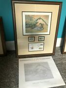 Ducks Unlimited Limited Edition, Signed And 'd Prints W/stamps, Matted And Framed