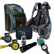 Cressi Travelight 15 Lbs Scuba Diving Package Carry On Reg Dive Computer Gupg