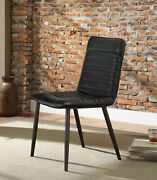 Acme Hosmer Set Of 2 Side Chair In Black And Antique Black Finish 70422