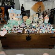 Vintage Lot Fisher Price Precious Places Moments Figures Mansion Houses Key Town