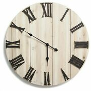 Stratton Home Transitional Wood And Metal Wall Clock With Antique Bronze S11574