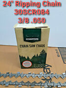 24 Forester Chainsaw Chain Husqvarna 372 Xp 3/8 .050 Ripping 30scr084